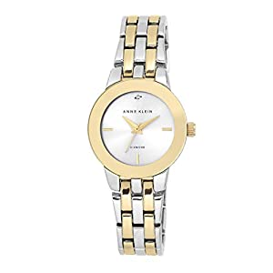 Anne Klein Ladies níquel Free Two-Tone Bracelet with Diamond Accent on