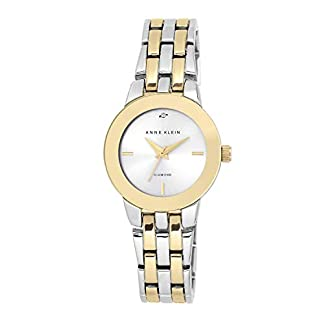 Anne Klein Ladies níquel Free Two-Tone Bracelet with Diamond Accent on Dial