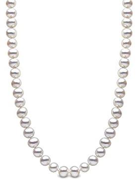 Kimura Perlen Silber 5mm weiße Süßwasser-Zuchtperlen Halskette in AA Qualität