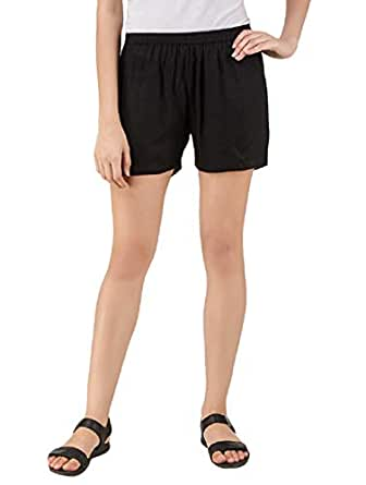 GIRLON Soft Rayon Shorts for Women