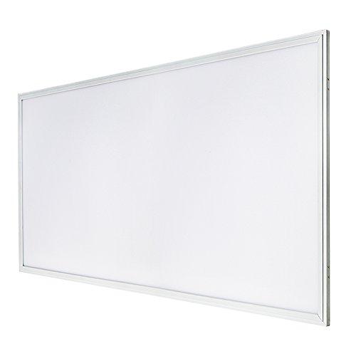 G.W.S® 72W premium cadre ultra-mince blanc 595mmx1195mm (2'x4') rectangulaire LED encastré panneau plat blanc neutre