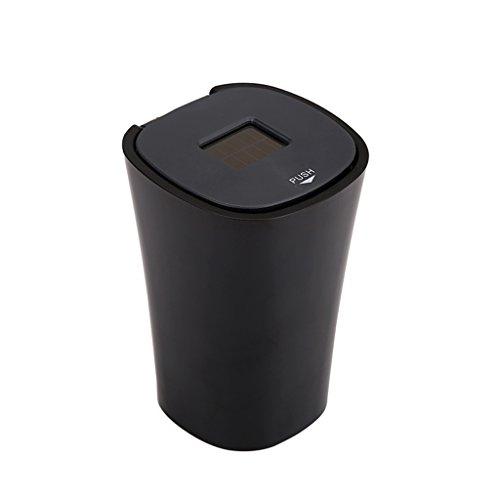 Tisch- & Bar-Accessoires Staub-Aschenbecher Multifunktions-Auto-Aschenbecher Tippen Sie auf offene Abdeckung Auto-Aschenbecher mit Abdeckung Auto-Aschenbecher Multifunktions-Solar-Lade LED-Licht (Led-licht Tippen)