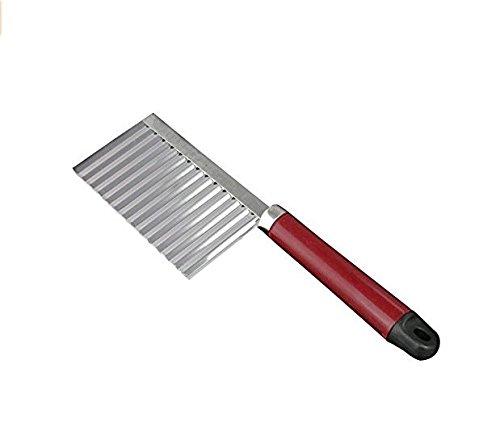 Beito - Cuchillo Ondulado de Acero Inoxidable, Mango de plástico, para Cocina, Utensilios de Corte, Herramientas de Cocina