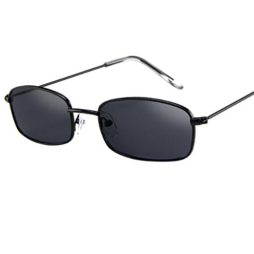 bcb88f07aa8 Dragon868 Vintage Brille Square Shades kleine rechteckige Sonnenbrille  Rahmen (A)