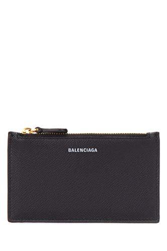 Balenciaga Damen 5811020Otgm1000 Schwarz Leder Kreditkartenetui