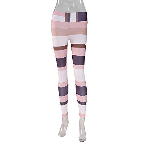 Lilicat Femmes Leggings Imprimé Hanche Épissage Élastique Sport Pantalon Taille Haute Yoga Fitness Leggings Courir Gym Stretch Pantalon S-XL Kaki