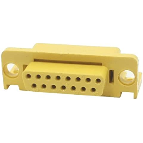 Water & Wood Yellow Plastic Shell without Pin for DB15 Female D-sub Connector Socket DIY