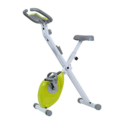 Rouyuan computer da allenamento pieghevole ed ellittica cross trainer e fitness cardio weightloss workout machine fitness bike (colore : verde, dimensione : free size)