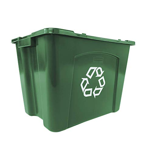 Rubbermaid Produkte fg571473grn stapelbar Recycling Box, 14GAL, grün -