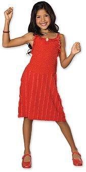 gabriella red dress up Kostüm Alter 5-6 (High School Musical Gabriella Kostüm)