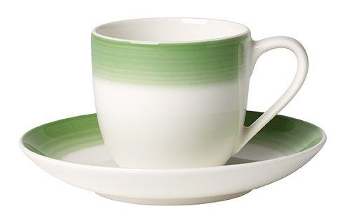 Villeroy & Boch Colourful Life Green Apple Tasse Espresso conper, 2Stück, Premium Porzellan, Grün Green Espresso-tasse