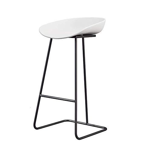 Küchenstuhl Iron Golden Barhocker Home Rückenlehne Hochstuhl Moderne Einfachheit Barhocker Sitzhöhe 65cm, 70cm, 75cmCM Barstühle ZHML (Color : Black, Size : 60cm)