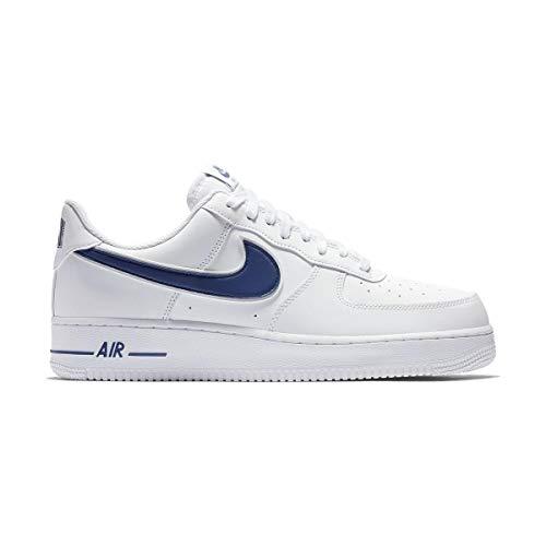 Nike Sneakers Air Force 1 '07 3 Bianco Blu AO2423-103 (44 - Bianco)