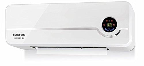 Taurus RCMB23–Termoventilatore a parete (2potenze, schermo LED, Termostato Regolabile)