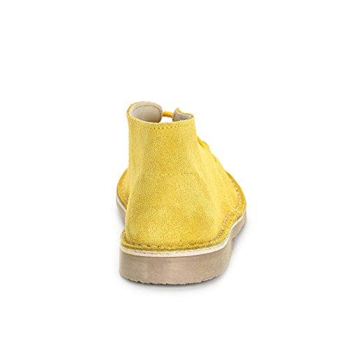 MARINA SEVAL by Scarpe&Scarpe - Polacchi con lacci e cuciture a contrasto, in Camoscio Giallo