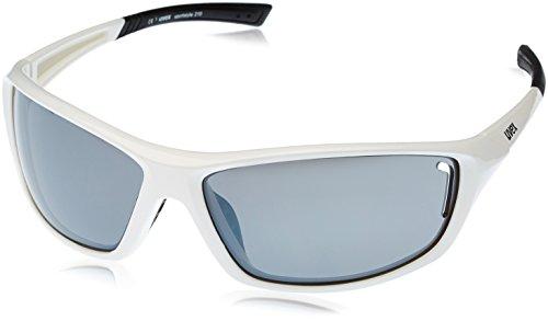 Uvex Sportstyle 210 Sportsonnenbrille, weiß (White Black/Lens Litemirror Silver), One Size -