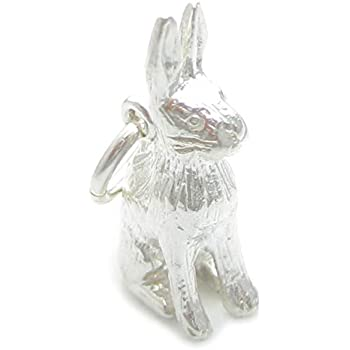 Hare sterling silver charm ITS NOT A RABBIT .925 x 1 Rabbits and Hares CF3084