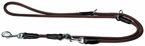 Hunter Verstellbare Hundeführleine Freestyle, dunkelbraun, 1,0/200 cm (Braun Hund Dog Halsband)