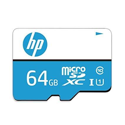 Micro SD HP 64GB Class 10 100MB/s + Adapter (64gb Hp)