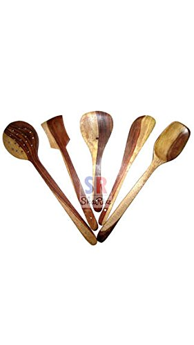 ShaRivz Wooden Skimmer (Set Of 5)  available at amazon for Rs.229