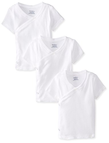 Gerber-side-snap-shirts (Gerber Unisex Baby 3 Pack Short-Sleeve Shirts with Side Snaps)