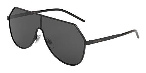 Ray-Ban Herren 0DG2221 Sonnenbrille, Mehrfarbig (Matte Black), 40.0