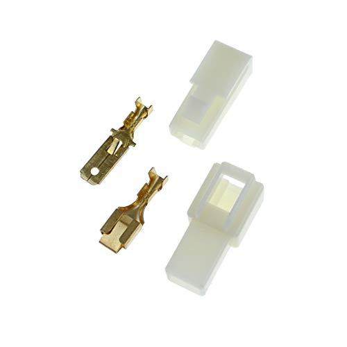 10x Gehäuse 1 polig Stecker 6,3mm Flachsteckhülsen Flachstecker Steckergehäuse