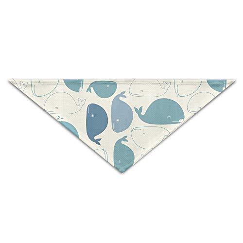 Gxdchfj 蓝色鲸鱼图案宠物猫狗头巾三角形头巾配件 (Kundenspezifischer Kostüm Outfit)