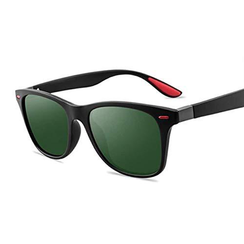 Kjwsbb Polarisierte Sonnenbrille männer Frauen Fahren quadratischen Rahmen Sonnenbrille männlich Brille Shades Beschichtung Spiegel weiblich