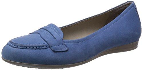 Ecco Touch15, Damen Geschlossene Ballerinas, Blau (Retro Blue Velvet02471), 40 EU