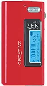 Creative Zen Nano Plus Tragbarer MP3-Player 1 GB rot