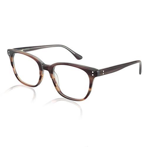 Bifokale Lesebrille für Männer Frauen - Photochrome Sonnenbrillenleser, Acetat Quadratischer Rahmen/dünne flache Linse/Blendschutz/Vergrößerung 1,0 bis 3,00 Intensität,Tortoiseshell,+1.5