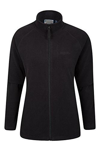 Mountain Warehouse Stylish Raso Womens Fleece – Lightweight Ladies Jacket, Quick Drying Coat, Waterproof Raincoat, Soft & Smooth – Ideal for Travelling, Walking Black 12