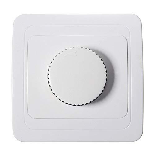 Denret3rgu Drehen Sie den Dimmschalter für die LED-Glühbirnenlampe am Drehknopf - Weiß -