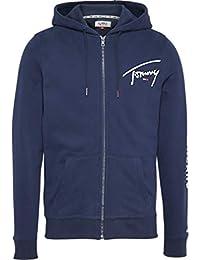 Tommy_Jeans TJM Tommy Script Zip Thru Sudadera para Hombre