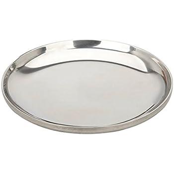 Kerzen und Tischplatte Gestaltung Silbern INERRA Rund Glas Spiegel Teller f/ür Hochzeitstisch Tafelaufs/ätze 20cm