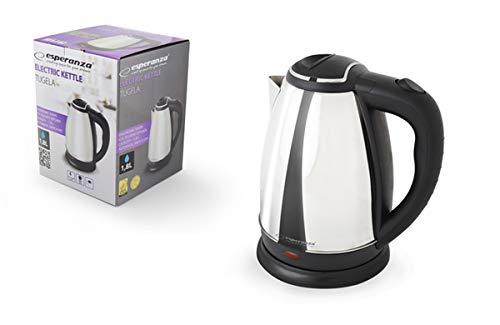 Esperanza-EKK004S-EKK004-Elektrischer-Wasserkocher-Tugela-18L-Metall-Silber-Glnzend
