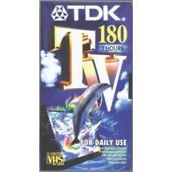 tdk e180 tv cassette vhs vierge video vhs tdk. Black Bedroom Furniture Sets. Home Design Ideas