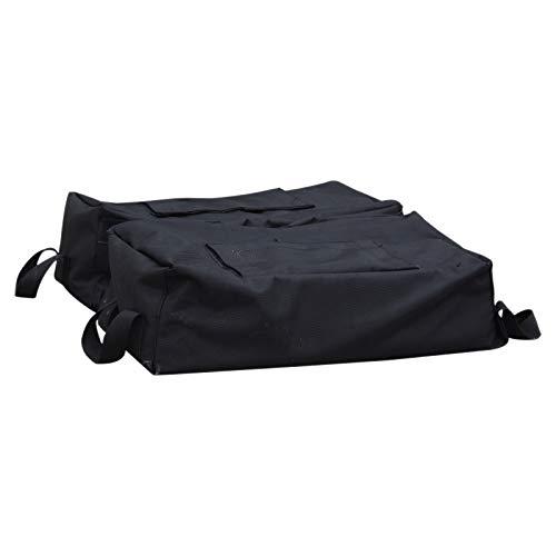 Outsunny Sac de lestage de Parasol avec poignées Base Socle de Parasol dim. 50L x 50l x 18H cm à remplir de Sable 50 Kg env. Pelle Incluse Tissu Oxford Noir