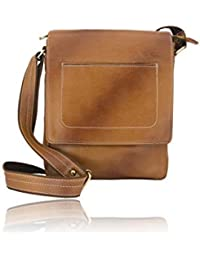 Generic Unisex Leather Brown Cross Body Sling Bag Rayanaxi 074