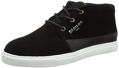 Blauer USACUPMID/SUE - Sneaker uomo , Nero (Nero (nero)), 43