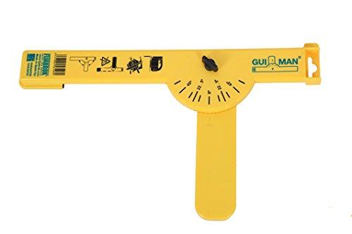 Gui-man 1031/12 - Guía de corte (30 cm, con bandas antideslizantes, ángulo de corte 180° para sierra de calar y mini sierras circulares de mano)