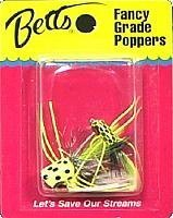 Betts Panfish Popper (3-Piece), Yellow/Black by Betts