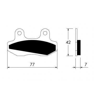 V PARTS - H122/54 : Pastillas de freno delanteras