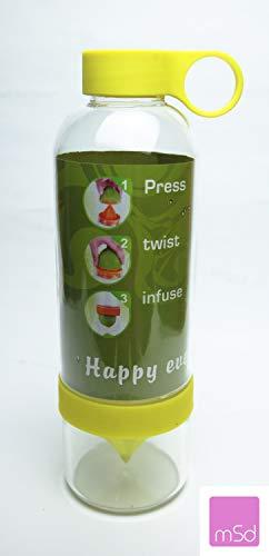 kflasche früchtebehälter Zitruspresse Wasser Sport Flasche 700ml BPA Frei (Gelb) ()