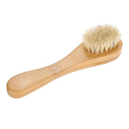 Cepillo facial, mango madera Cepillo limpieza facial