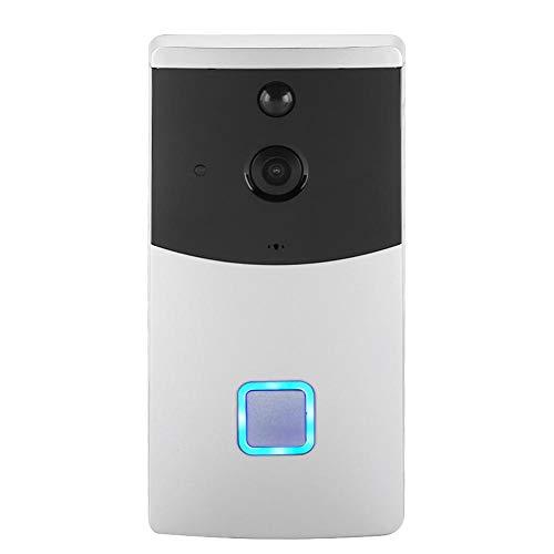 Campanello video, campanello senza fili WIFI HD 720P con rilevamento di movimento PIR video wireless funzione di memorizzazione automatica sensore di movimento audio bidirezionale (Campanello blu)
