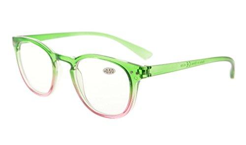 Eyekepper-Art- und Weiseleser-Frauen, die Gläser lesen Grün +1.5