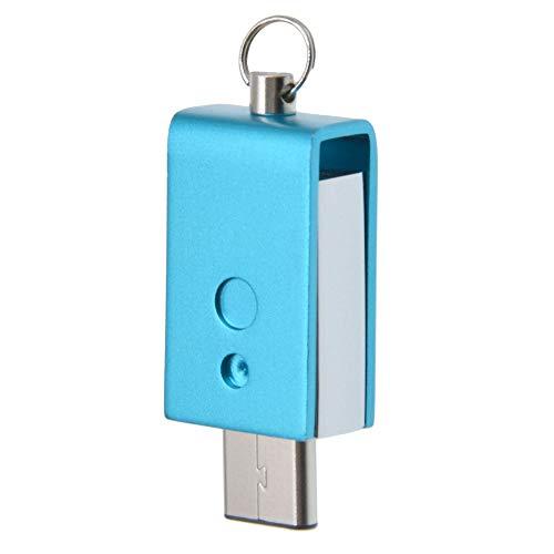 Uflatek 64 GB USB-Flash-Laufwerk Rotate Dual USB Stick 3.0 High Speed Flash Drive Imprägniern Speicher Stick Tragbar U Disk Blau Pendrive für Smartphone Tablet PC und Andere USB-Geräte