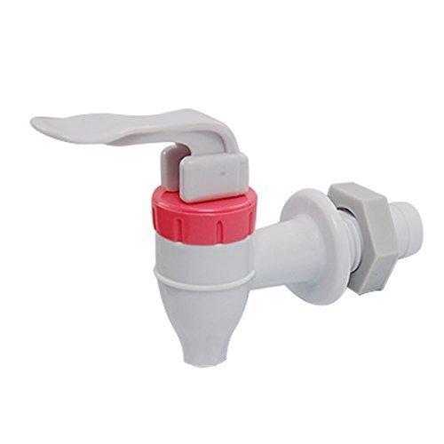 Ersatzwasserhahn aus Kunststoff, Weiß-Rot, zum Drücken